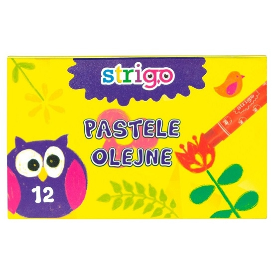 Pastele olejne Strigo, 12 kolorów (SSC027)